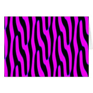 粋なピンクの野生のアニマルプリント カード
