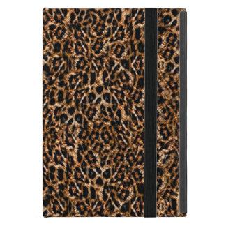 粋なブラウンのエキゾチックな毛皮パターンヒョウのプリント iPad MINI ケース