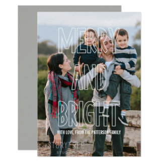粋なメリーで、明るい上敷の休日平らなカード 12.7 X 17.8 インビテーションカード