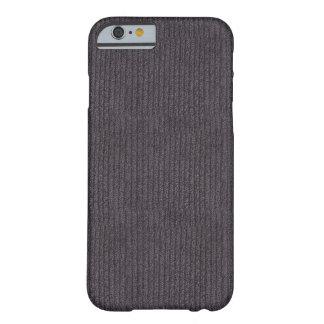 粋なモダンの抽象芸術灰色のリネンパターン生地 BARELY THERE iPhone 6 ケース