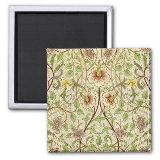 粋なヴィンテージの装飾者の花模様の壁紙のラッパスイセン マグネット