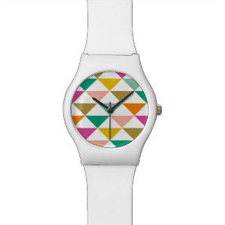 粋な三角形の腕時計(明るい) 腕時計