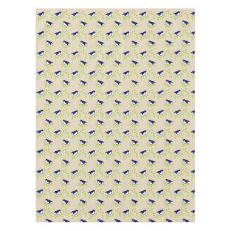 粋な五十年代- 2羽の青い鳥のテーブルクロス テーブルクロス