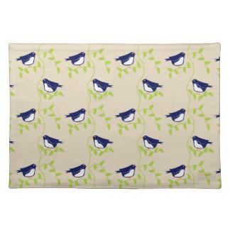 粋な五十年代- 2羽の青い鳥のランチョンマット ランチョンマット