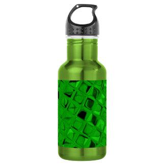 粋な光沢がある金属エメラルドグリーンのダイヤモンド ウォーターボトル