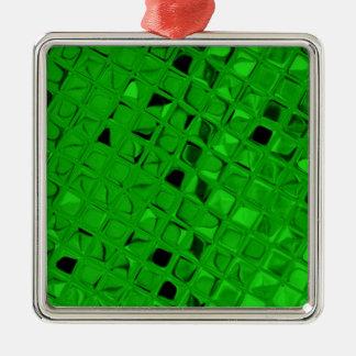 粋な光沢がある金属エメラルドグリーンのダイヤモンド メタルオーナメント