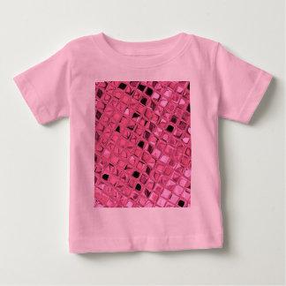 粋な光沢がある金属ガーリーなピンクのダイヤモンドのいくじなし ベビーTシャツ
