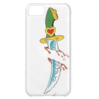 粋な入れ墨の電話箱 iPhone5Cケース
