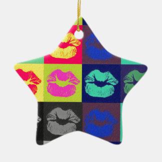 粋な唇の三色 セラミックオーナメント