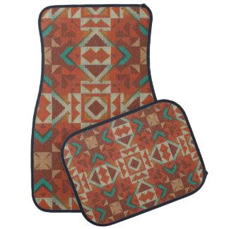粋な天然アメリカインディアンの種族のモザイク模様 カーマット