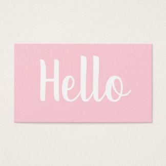 粋な最小主義のはっきりしたなパステル調ピンクの名刺 名刺