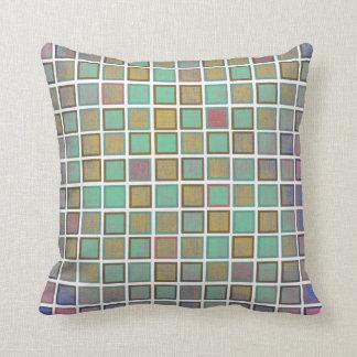 粋な正方形パターン。 カラフルな枕 クッション