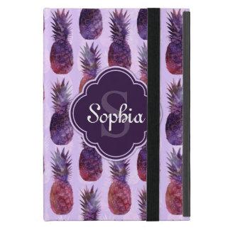 粋な水彩画のパイナップルパターン iPad MINI ケース