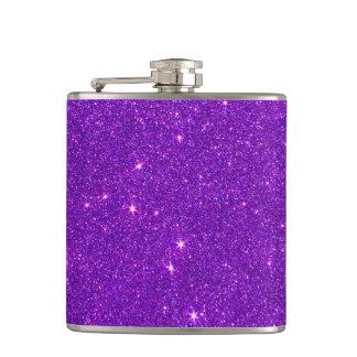 粋な濃紫色のグリッターのイメージ フラスク