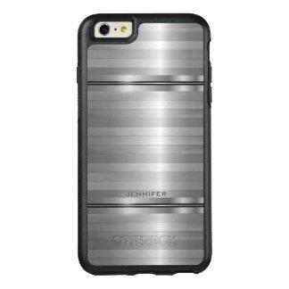 粋な灰色のストライプパターン オッターボックスiPhone 6/6S PLUSケース