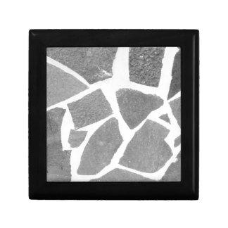粋な灰色白のタイルパターン、石造りの煉瓦タイル ギフトボックス