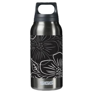 粋な白黒の大きくはっきりしたな花パターン 断熱ウォーターボトル