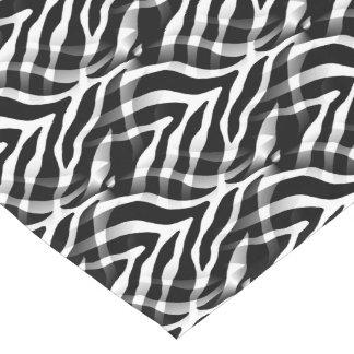 粋な白黒シマウマのストライプのプリント ショートテーブルランナー