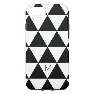 粋な白黒三角形パターン iPhone 8/7ケース