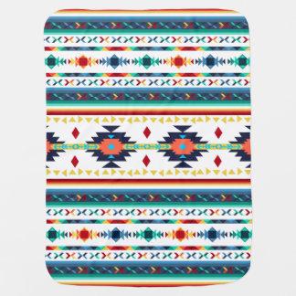 粋な種族の民族のナバホー人の幾何学的なパターン ベビー ブランケット