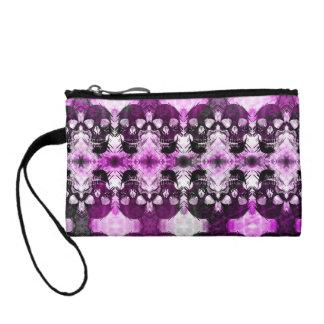 粋な紫色の写実的なスカル コインパース