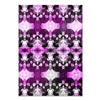 粋な紫色の写実的なスカル 8.9 X 12.7 インビテーションカード