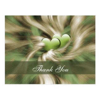 粋な緑ありがとうカード はがき