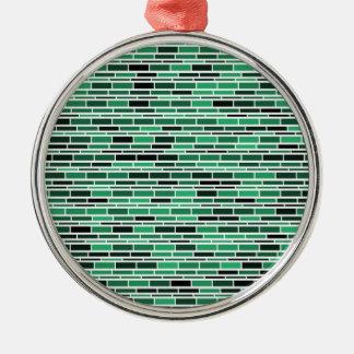 粋な緑ガラスのSubeayのタイルパターン メタルオーナメント