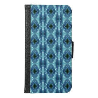 粋な縦の青のカッコいいパターン GALAXY S6 ウォレットケース