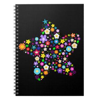 粋な花いっぱいのノート ノートブック