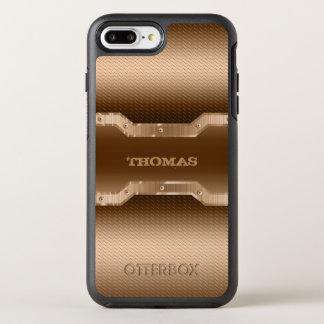 粋な薄茶のブラシをかけられた金属の一見 オッターボックスシンメトリーiPhone 8 PLUS/7 PLUSケース