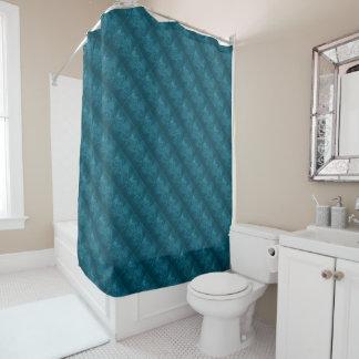 粋な質の暗いティール(緑がかった色)パターン シャワーカーテン