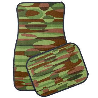 粋な軍隊は緑および茶色車のマットセットをインスパイア カーマット