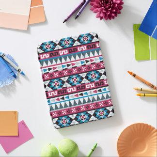 粋な青およびラズベリーのアズテック人パターン iPad AIR カバー