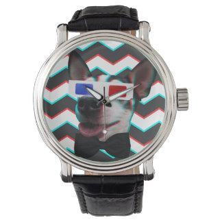 粋な3D犬 腕時計
