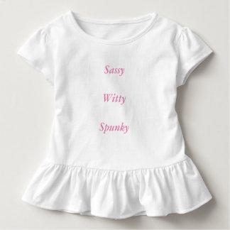 粋な、機知に富んだ、魅力的なひだのティー トドラーTシャツ