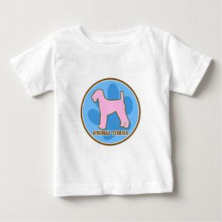 粋なAiredaleテリアのベビーのTシャツ ベビーTシャツ