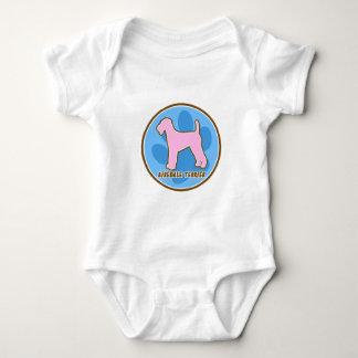 粋なAiredaleテリアの子供のTシャツ ベビーボディスーツ