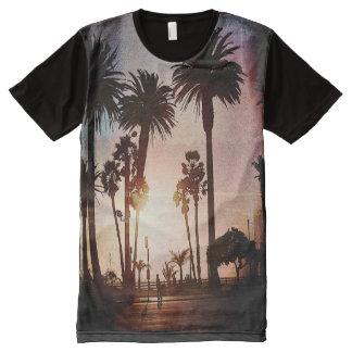 粋なMiami Beachのおもしろいのワイシャツ オールオーバープリントT シャツ