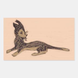粋猫 長方形シール