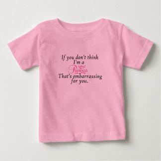 粋、ベビーのプリンセスのTシャツ ベビーTシャツ
