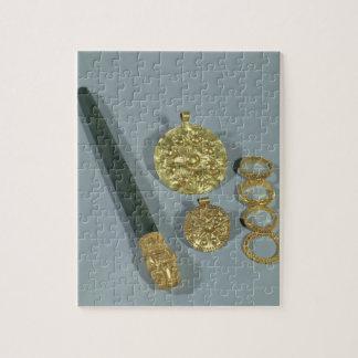 粒状にされていた装飾、Suが付いているWhetstoneそしてリングや輪 ジグソーパズル