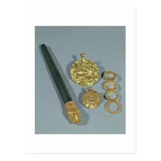 粒状にされていた装飾、Suが付いているWhetstoneそしてリングや輪 ポストカード