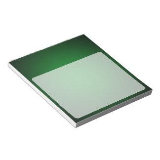 粒状の緑黒いヴィグネット ノートパッド