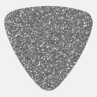 粗い銀製の質のプリント ギターピック