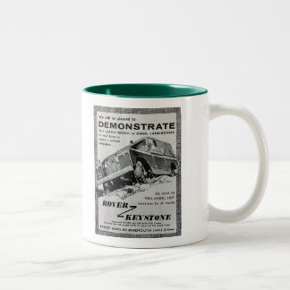 粗紡機の台形広告のコーヒー・マグ ツートーンマグカップ