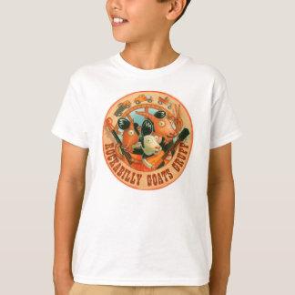 粗野なロカビリーのヤギ-ロゴ Tシャツ