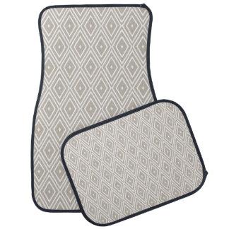 粘土および白いダイヤモンドパターン カーマット