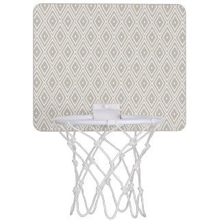 粘土および白いダイヤモンドパターン ミニバスケットボールゴール