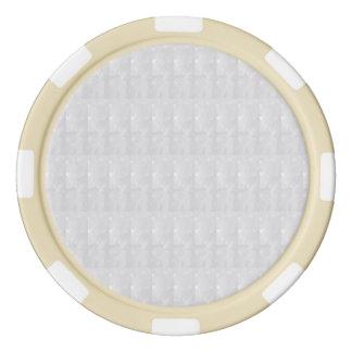 粘土のポーカー用のチップの賭けのカジノの水晶白 ポーカーチップセット